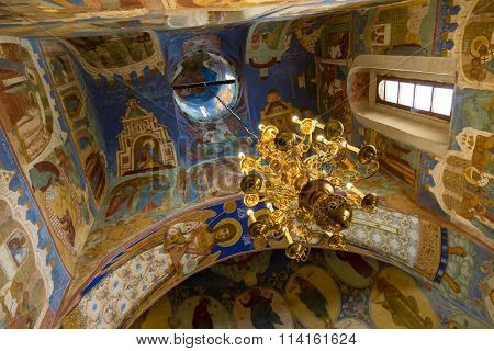 Suzdal, Russia - September 20, 2015: Transfiguration Cathedral in Monastery of Saint Euthymius Suzdal