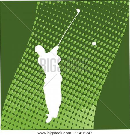 Golfer Silhouette - vector
