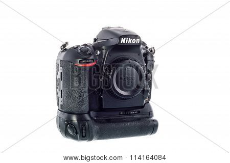 SYDNEY AUSTRALIA - JANUARY 13 2016 : Nikon D810 camera body whit Nikon Battery Grip MB-D12
