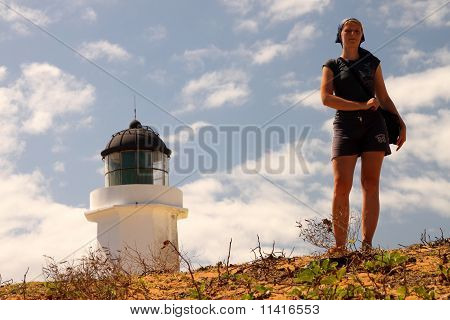 Girl and a lighthouse