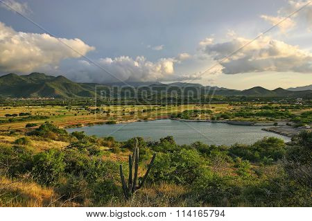 Venezuela. The vast expanses of the island of Margarita