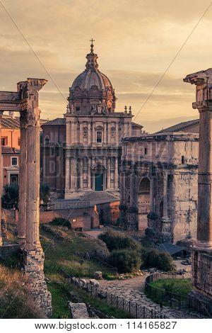 Rome, Italy:Santi  Luca e Martina Church in Roman Forum