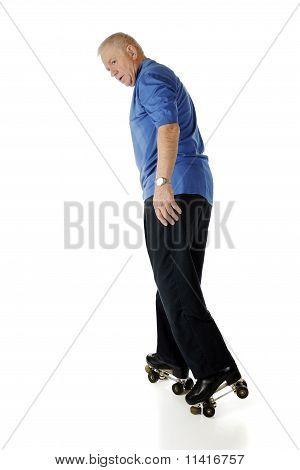 Senior Skating Backwards