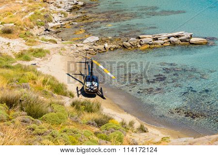 Small Private Helicopter