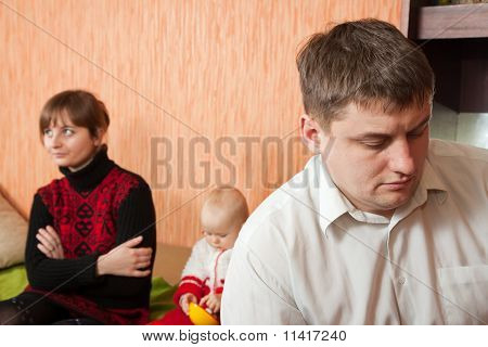 Young Marriage Quarreling At Home