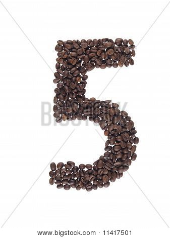 Number Made With A Coffee Beans