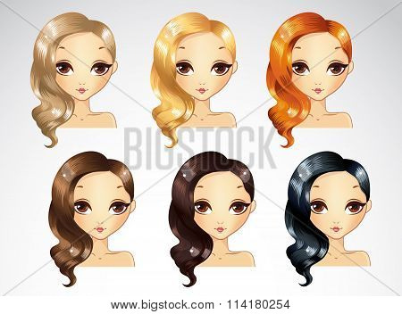 One Side Curls Hairstyling Set