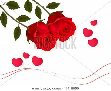 Card with valentine day