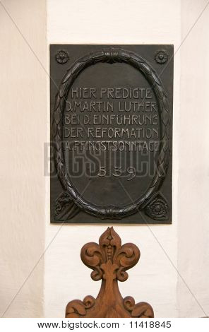 Martin Luther plate