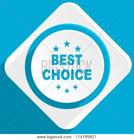 best choice blue flat design modern icon for web and mobile app