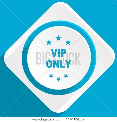vip only blue flat design modern icon for web and mobile app