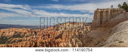 Panorama Of Inspiration Point In Bryce Canyon