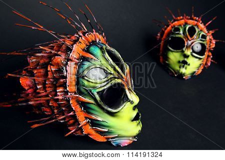 Masquerade colorful scary masks