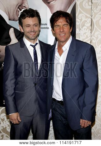 Michael Sheen and Dennis Quaid at the Los Angeles Premiere of