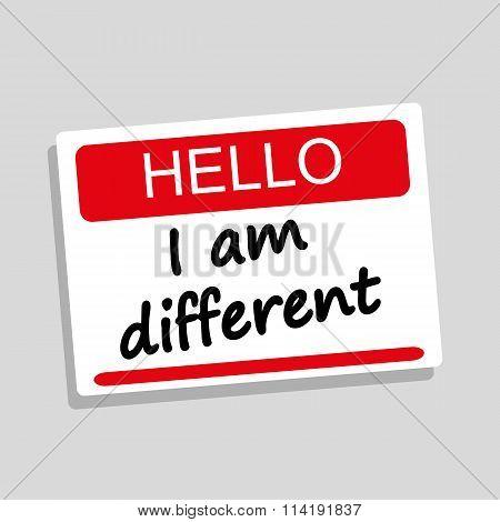 I Am Different Badge