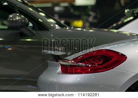 Zoom Sports Car Taillight In Car Show Event