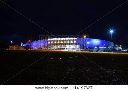 Kolomna, Russia - December, 2015: Night View Of The City. Speed Skating Center