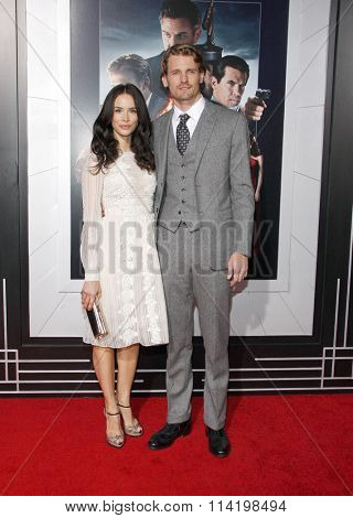 LOS ANGELES, CALIFORNIA - January 7, 2013. Abigail Spencer and Josh Pence at the Los Angeles premiere of 'Gangster Squad' held at the Grauman's Chinese Theatre in Los Angeles.