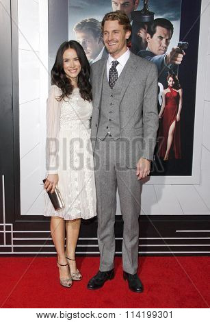 Abigail Spencer and Josh Pence at the Los Angeles premiere of