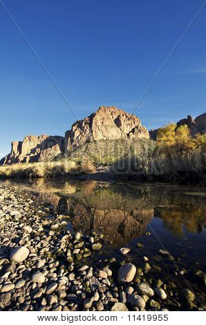 Landscape of  beautiful  creek.