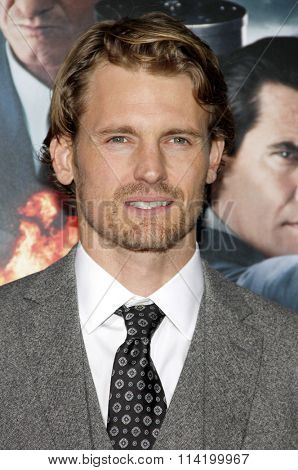 LOS ANGELES, CALIFORNIA - January 7, 2013. Josh Pence at the Los Angeles premiere of 'Gangster Squad' held at the Grauman's Chinese Theatre in Los Angeles.