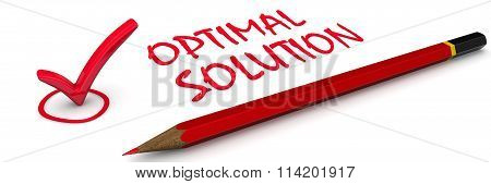 Optimal solution. The red mark
