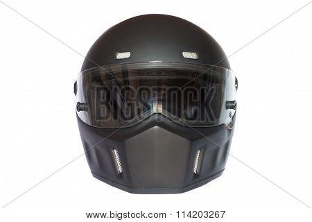 matte black full face helmet