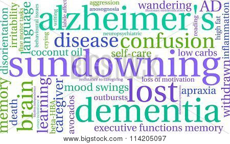 Sundowning Word Cloud