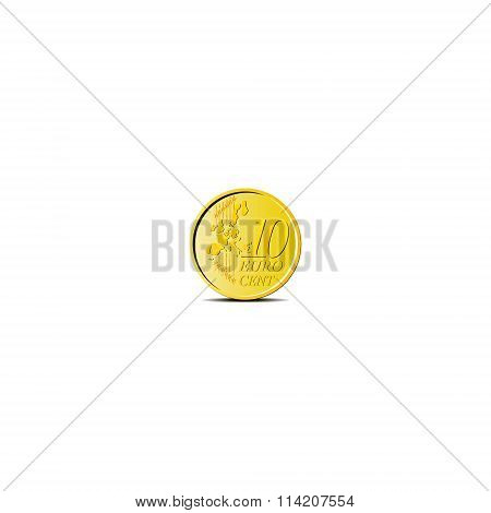 Vector coin 10 cents