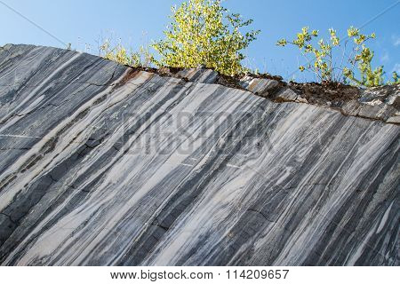 Marble quarry. Natural stone.