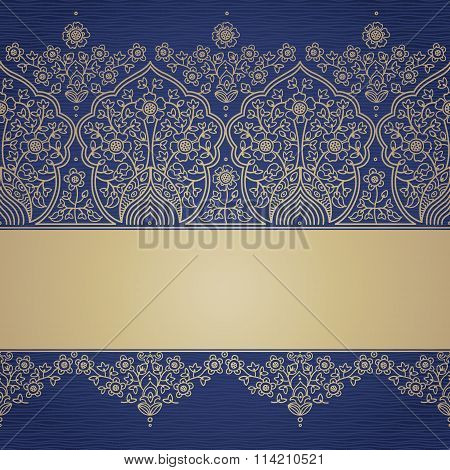 Vintage Seamless Border In Eastern Style.