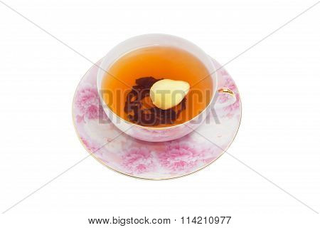 Ginger Tea On A Light Background