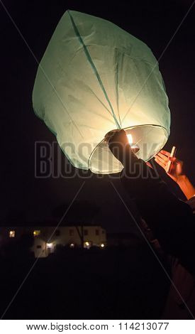 The Release Of A Chinese Lantern