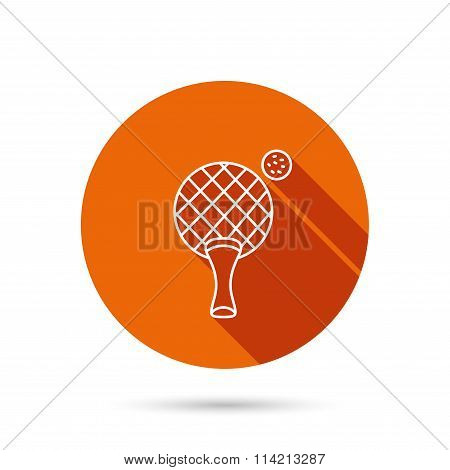 Table tennis icon. Ping pong sign.