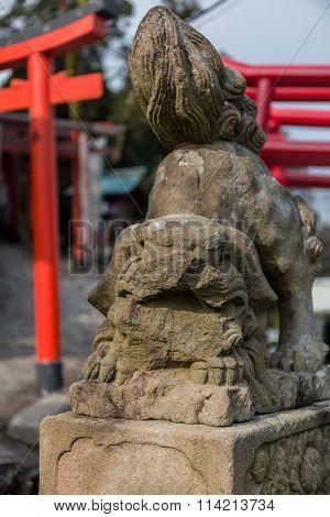 Lion Stone Sculpture Or Statue