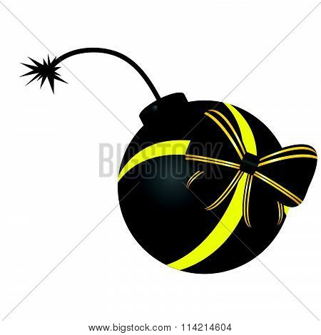 Bomb Vector With Bow