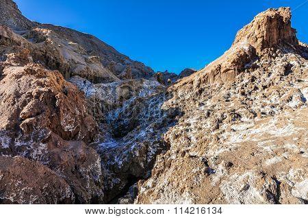 Salty Mountains In The Atacama Desert, Chile