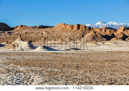 Moon Valley Crater In The Atacama Desert, Chile