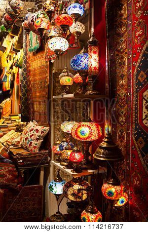 Beautiful Ethnic Turkish Souvenirs At Grand Bazar Istanbul