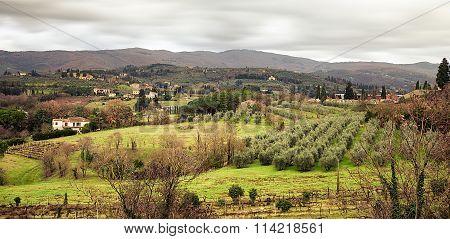 Arezzo Hills View From San Donato Belvedere