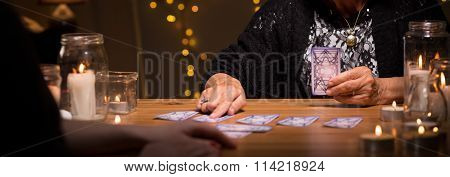 Fortune Teller And Cards