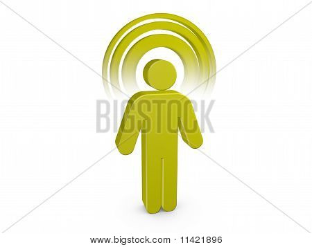 Olive Green Spiritual Man With Visible Color Aura