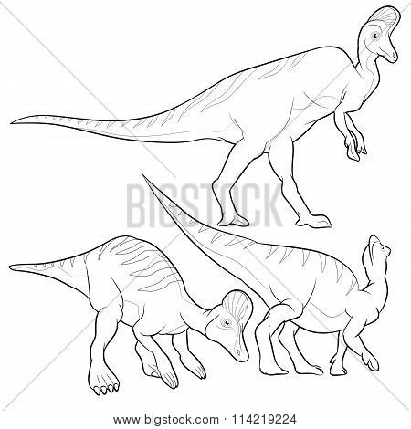 Corythosaurus Lineart