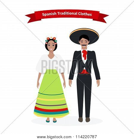 Spanish Traditional Clothes People