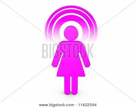 Magenta Spiritual Girl With Visible Color Aura