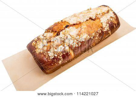 Delicious cake with crunchy sugar.
