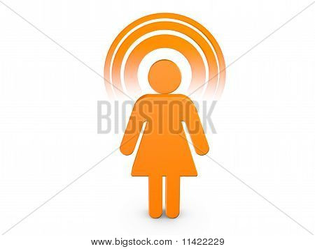 Orange Spiritual Girl With Visible Color Aura