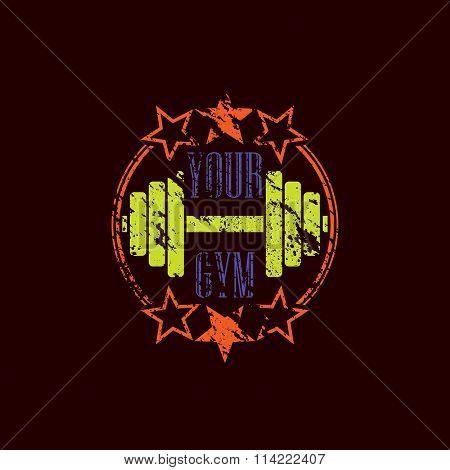 Gym symbol grunge