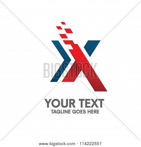 Letter X logo concept