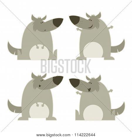 Set of wolves